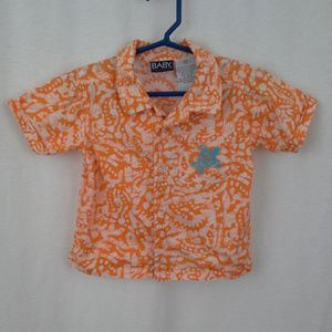 Baby Headquarters boys' Hawaiian camp shirt 18M